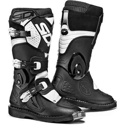 Black-White Flame Boots Sidi