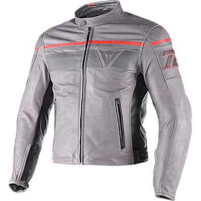 Blackjack leather Jacket Magnesium-Black Dainese