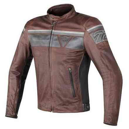 Blackjack leather Jacket perforated Dainese