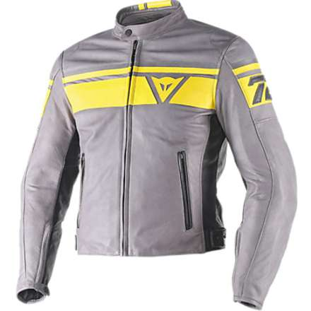 Blackjack leather Jacket Yellow-Black Dainese