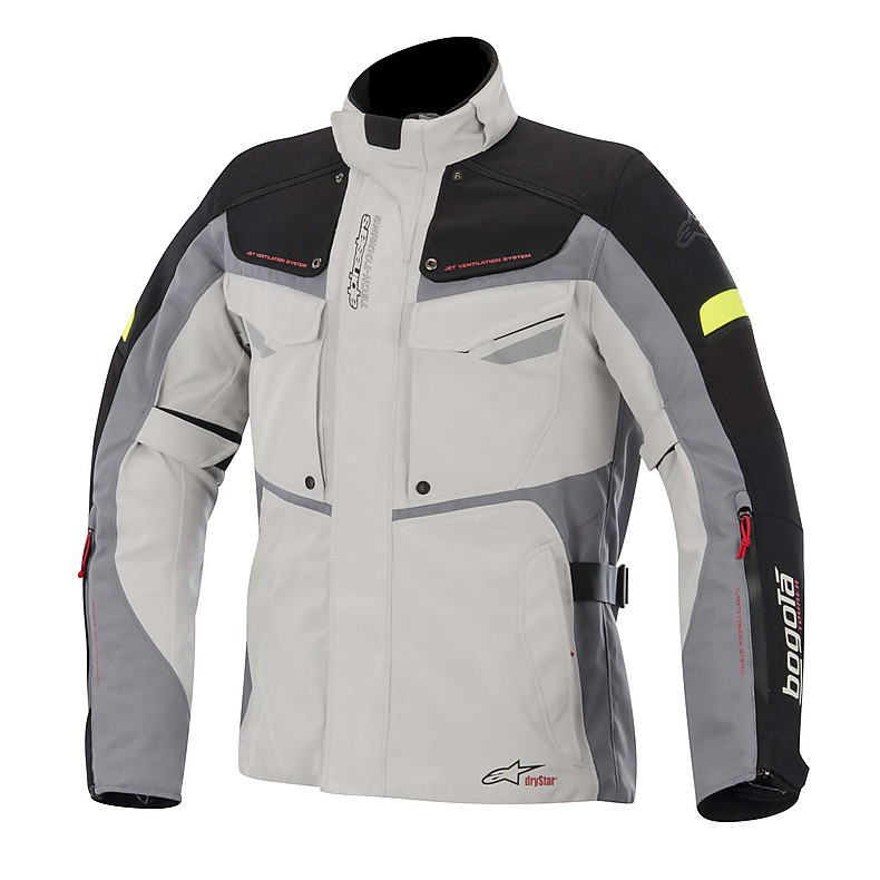 Bogotà Drystar Jacket 2015 grey-black-yellow fluo Alpinestars