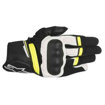 Booster black white yellow Gloves Alpinestars