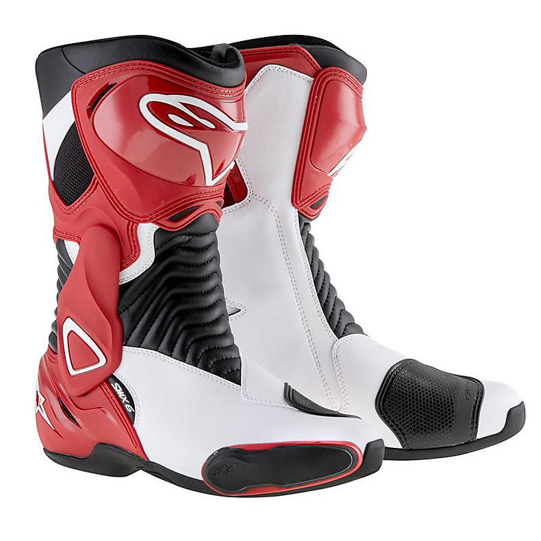 Boots S-mx 6 black-red-white Alpinestars
