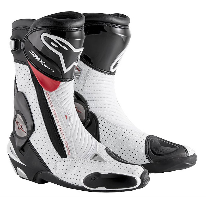 Boots Smx plus new 2015 black-white-red vented Alpinestars