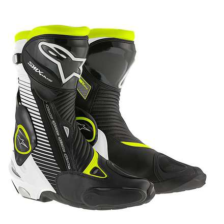 Boots Smx plus new 2015 black-white-yellow fluo Alpinestars
