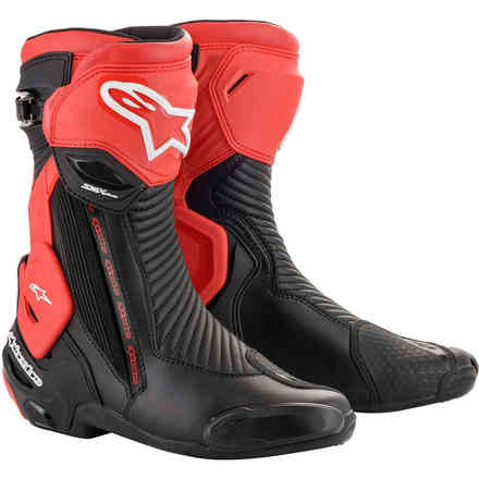 Boots Smx Plus V2 Black Red Alpinestars