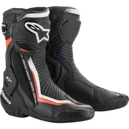 Boots Smx Plus V2 Black White Red Fluo Alpinestars