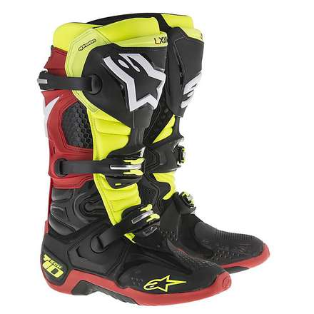 Boots tech 10 black-yellow fluo-red Alpinestars