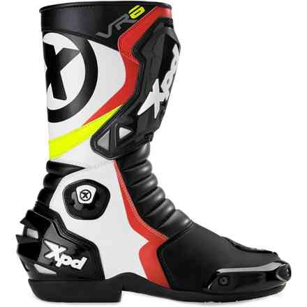Boots Vr 6 Black White Red Spidi
