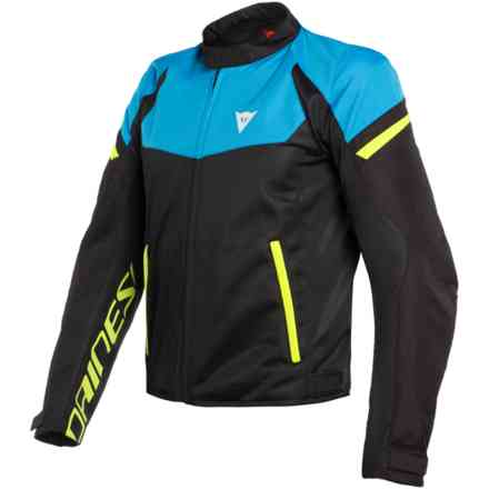 Bora Air Tex jacket black Fire blue yellow fluo Dainese