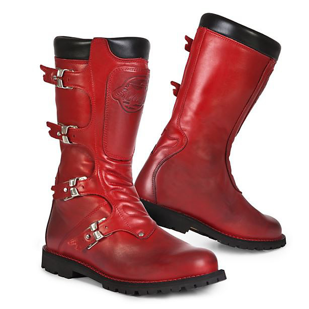 Bottes Continental rouge Stylmartin