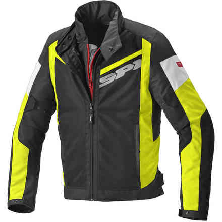 Breezy Net jakcet black yellow fluo Spidi