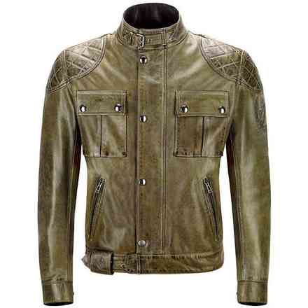 Brooklands Blouson green Leather Jacket Belstaff