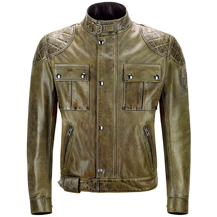 Brooklands leatherJacket Combat Green Belstaff