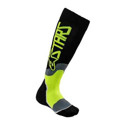 Calze Youth Mx Plus-2 nero giallo fluo Alpinestars