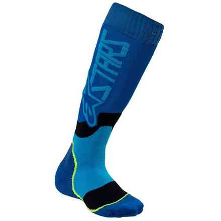 CalzeYouth Mx Plus-2 Blue ciano Alpinestars