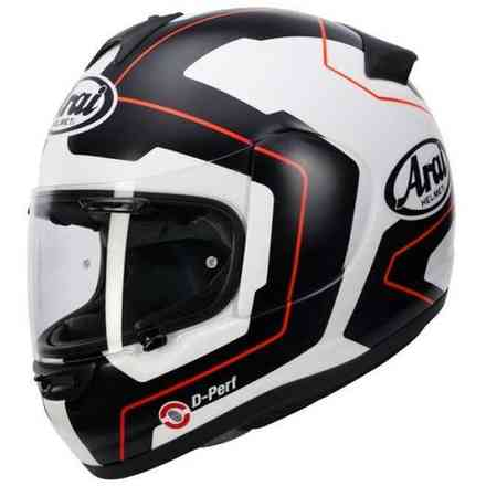 Caque Axces III Line rouge Arai