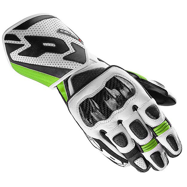 Carbo 1 Gloves black-green Spidi