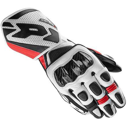 Carbo 1 Gloves black-red Spidi