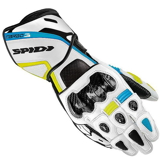 Carbo-3 Gloves white-blue-green Spidi