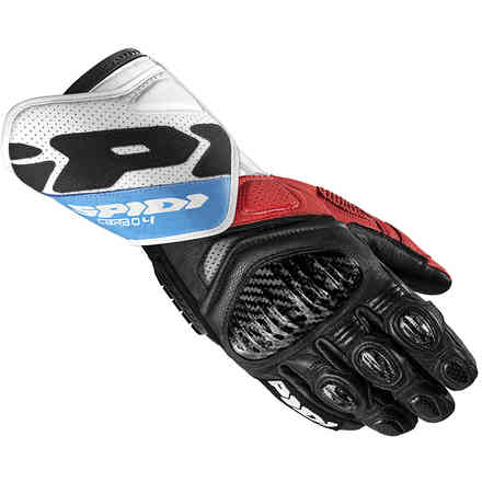 Carbo 4 gloves Red blue Spidi