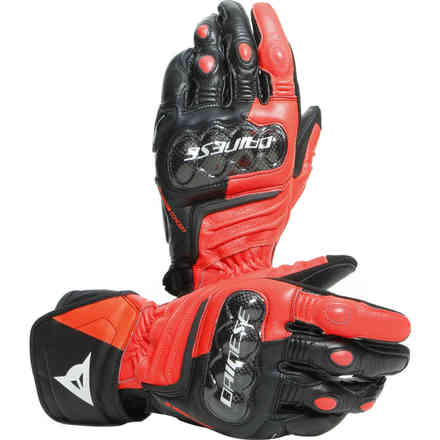 Carbon 3 Long gloves black red fluo white  Dainese