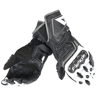 Carbon D1 long gloves black-white-anthracite Dainese