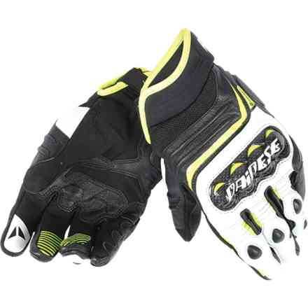 Carbon D1 short black-yellow fluo gloves Dainese