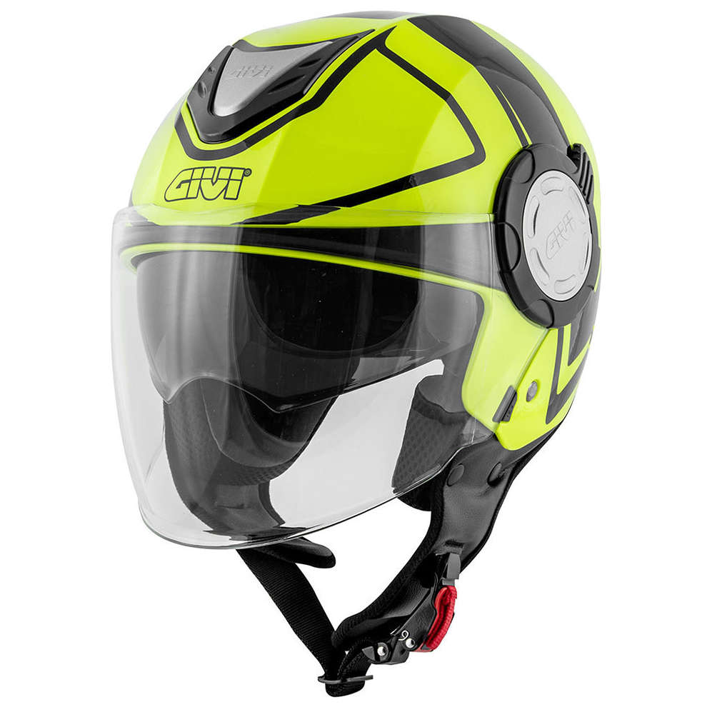 Casco 12.4 Future Stripes Giallo Givi