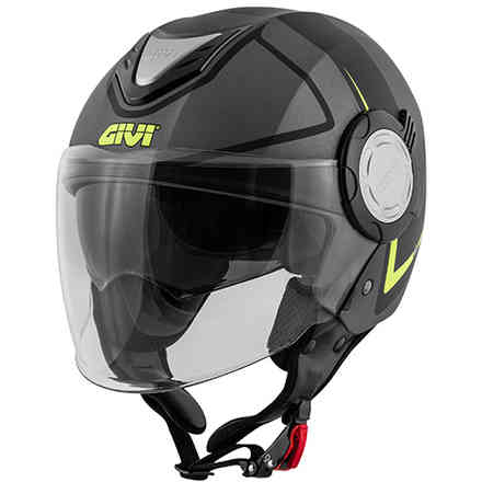 Casco 12.4 Future Stripes Titanio Nero Givi