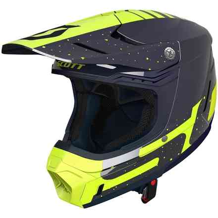 Casco 350 Evo Plus Team Ece Blu Giallo Scott