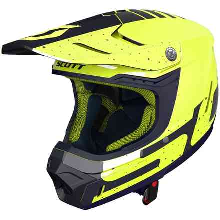Casco 350 Evo Team Ece Giallo Blu Scott