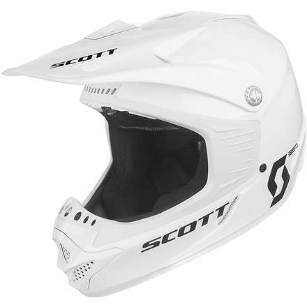 Casco 350 Pro Race Ece Junior bianco Scott
