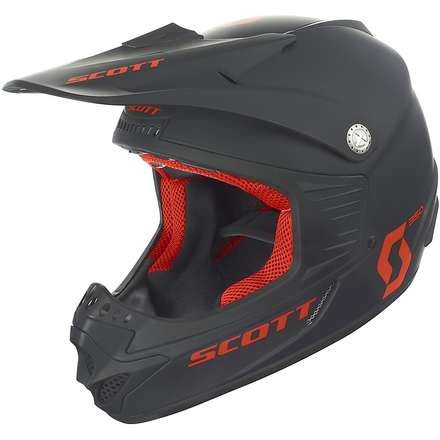 Casco 350 Pro Race Ece Junior nero opaco-arancio Scott