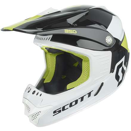 Casco 350 Race Ece Junior nero-verde Scott