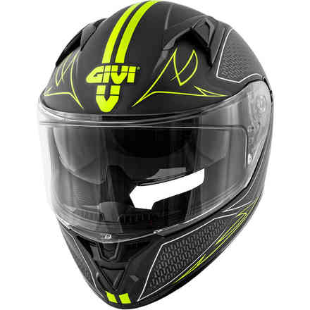 Casco 50.6 Stoccarda Splinter Nero Giallo Givi