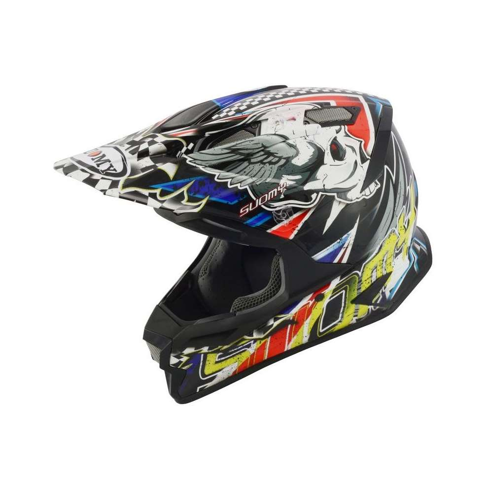 Casco Alpha Skull Red Suomy