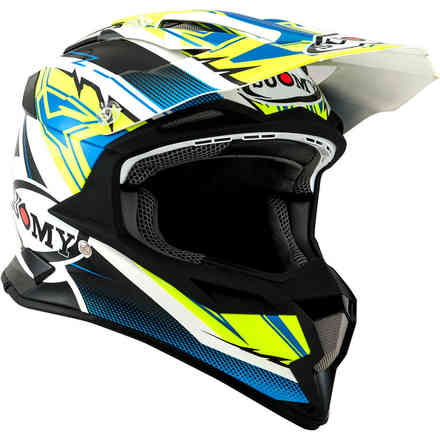 Casco Alpha Waves Matt Giallo Bianco Suomy