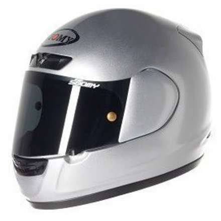 Casco Apex Plain Silver Suomy