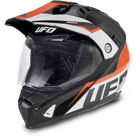 Casco Aries Nero Arancio Ufo