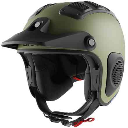 Casco Atv Drak Mat Verde Shark