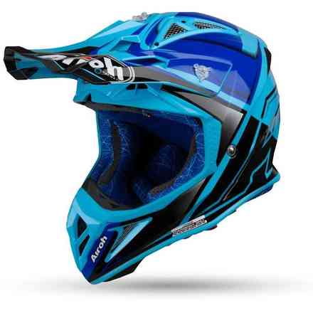 Casco Aviator 2.2 Check Blu Gloss Airoh