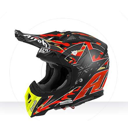 Casco Aviator 2.2 Replica Phillips orange matt Airoh