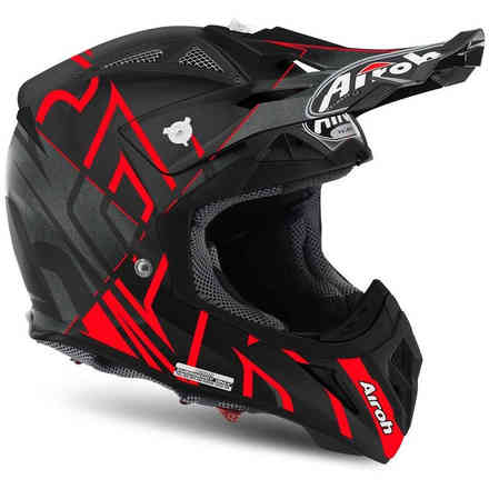 Casco Aviator 2.2 Styling rosso opaco Airoh