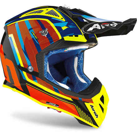 Casco Aviator 2.3 Glow Chrome Arancione Airoh