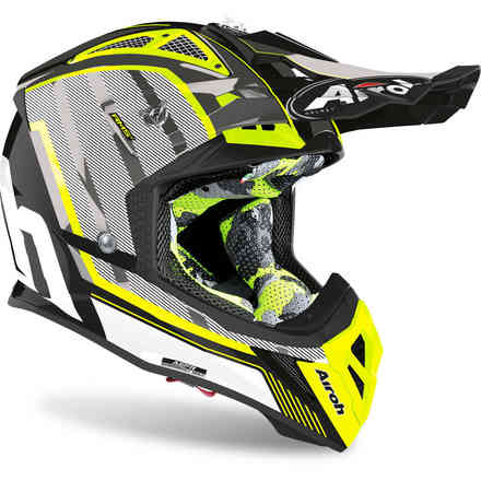Casco Aviator 2.3 Glow Chrome Giallo Airoh