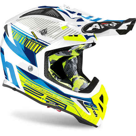 Casco Aviator 2.3 Novak Chrome Blu Airoh