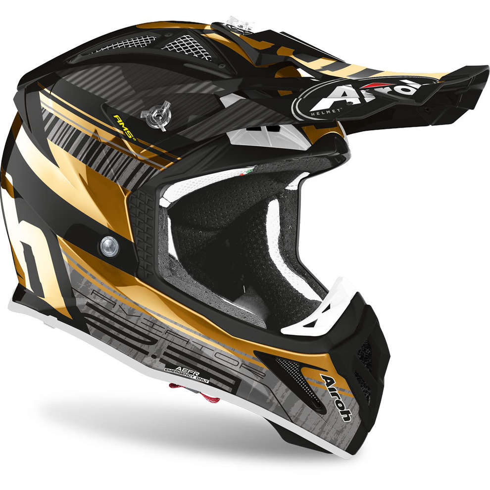 Casco Aviator 2.3 Novak Chrome Oro Airoh