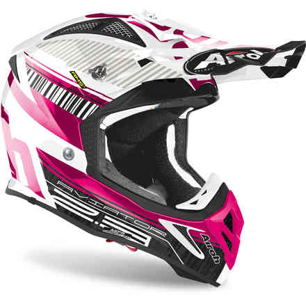 Casco Aviator 2.3 Novak Chrome Rosa Airoh