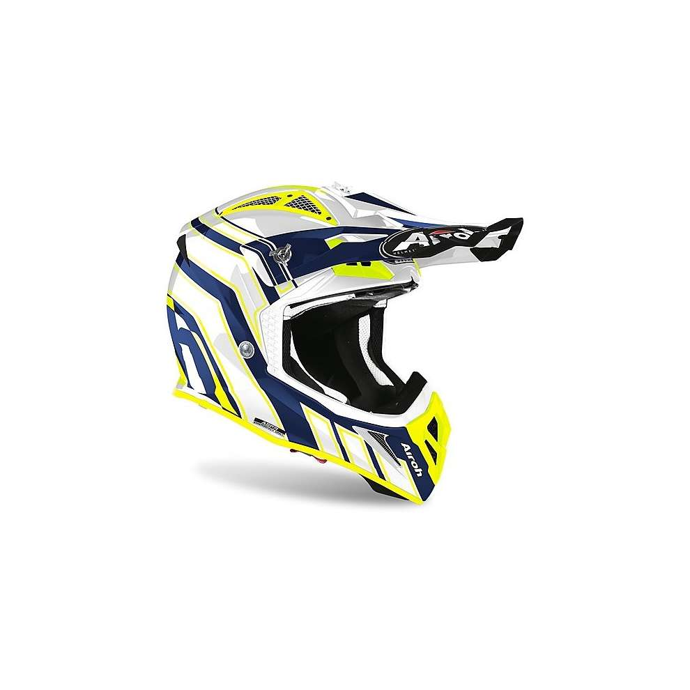 Casco Aviator Ace Art Blu Lucido Airoh